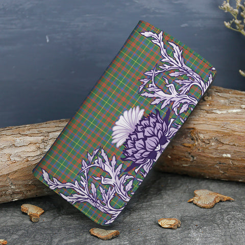 MacKintosh Hunting Ancient Tartan Wallet Women's Leather Thistle A91