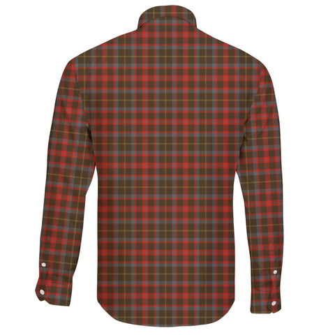 MacKintosh Hunting Weathered Tartan Clan Long Sleeve Button Shirt A91
