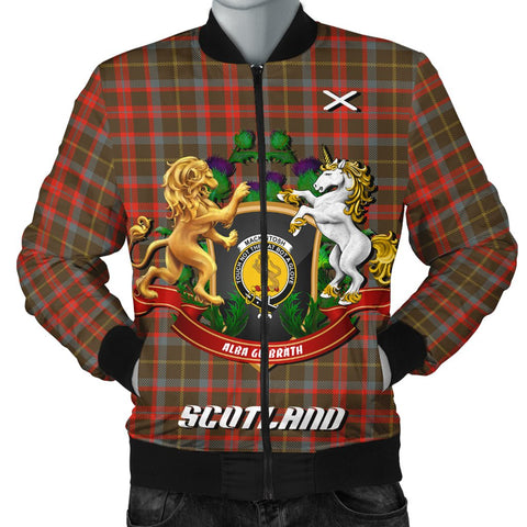 MacKintosh Hunting Weathered | Tartan Bomber Jacket | Scottish Jacket | Scotland Clothing