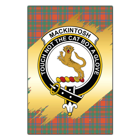 Garden Flag MacKintosh Ancient Clan Gold Crest Gold Thistle
