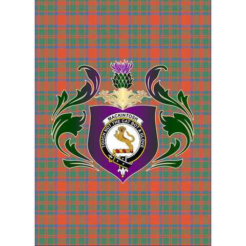 MacKintosh Ancient Clan Garden Flag Royal Thistle Of Clan Badge
