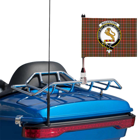 MacKintosh Hunting Weathered Clan Crest Tartan Motorcycle Flag