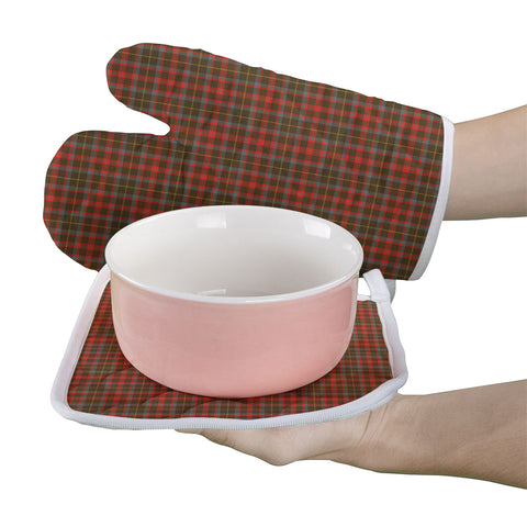 MacKintosh Hunting Weathered Clan Tartan Scotland Oven Mitt And Pot-Holder (Set Of Two)