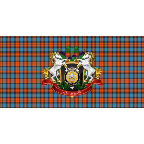 MacLachlan Ancient Crest Tartan Tablecloth Unicorn Thistle A30