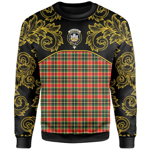MacLachlan Hunting Modern Tartan Clan Crest Sweatshirt - Empire I - HJT4 - Scottish Clans Store - Tartan Clans Clothing - Scottish Tartan Shopping - Clans Crest - Shopping In scottishclans - Sweatshirt For You