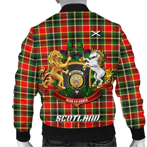 Image of MacLachlan Hunting Modern | Tartan Bomber Jacket | Scottish Jacket | Scotland Clothing