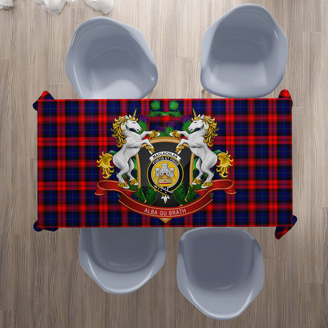 MacLachlan Modern Crest Tartan Tablecloth Unicorn Thistle | Home Decor