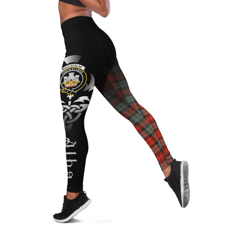 Image of MacLachlan Weathered Crest Tartan Alba Celtic Leggings | Over 500 Tartans | Special Custom Design
