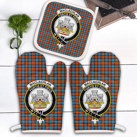 MacLachlan Ancient Clan Crest Tartan Scotland Oven Mitt And Pot-Holder (Set Of Two)