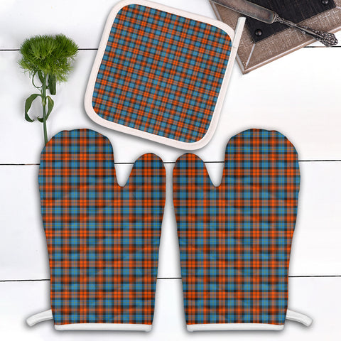 MacLachlan Ancient Clan Tartan Scotland Oven Mitt And Pot-Holder (Set Of Two)