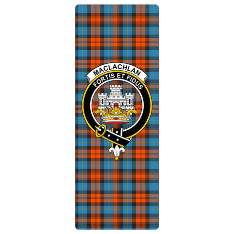 Image of MacLachlan Ancient Clan Crest Tartan Yoga mats