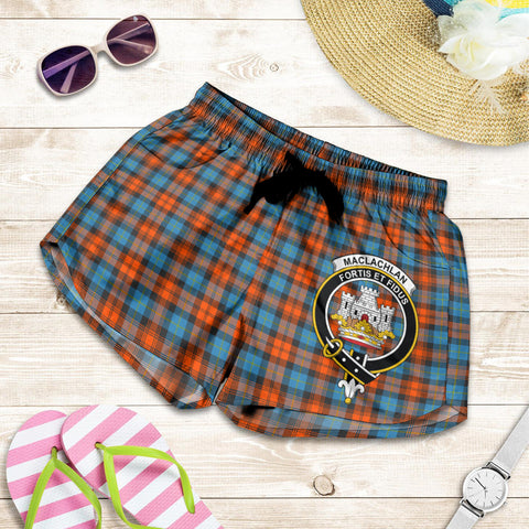 MacLachlan Ancient crest Tartan Shorts For Women