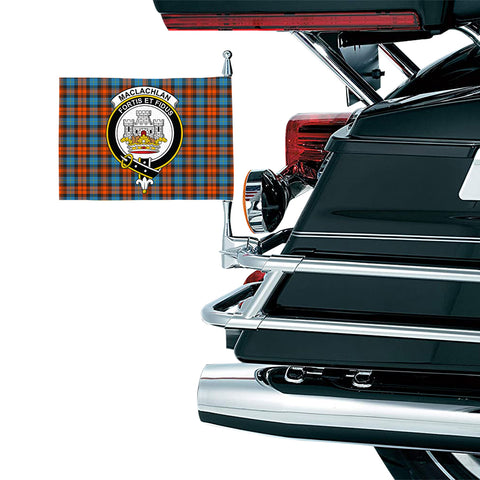 MacLachlan Ancient Clan Crest Tartan Motorcycle Flag