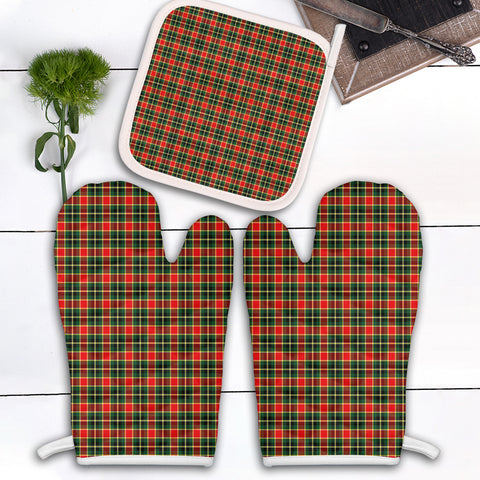 Image of MacLachlan Hunting Modern Clan Tartan Scotland Oven Mitt And Pot-Holder (Set Of Two)