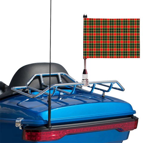 Image of MacLachlan Hunting Modern Clan Tartan Motorcycle Flag