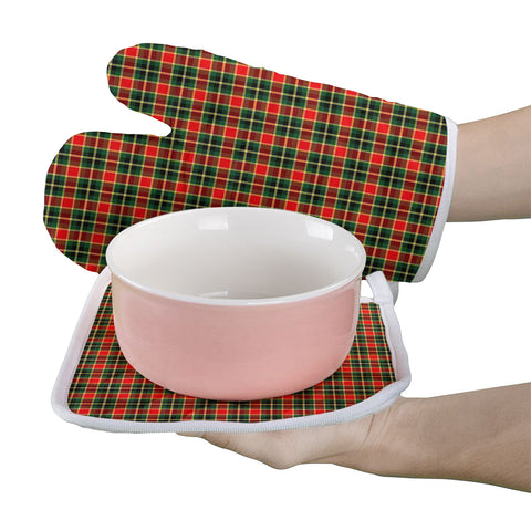 MacLachlan Hunting Modern Clan Tartan Scotland Oven Mitt And Pot-Holder (Set Of Two)