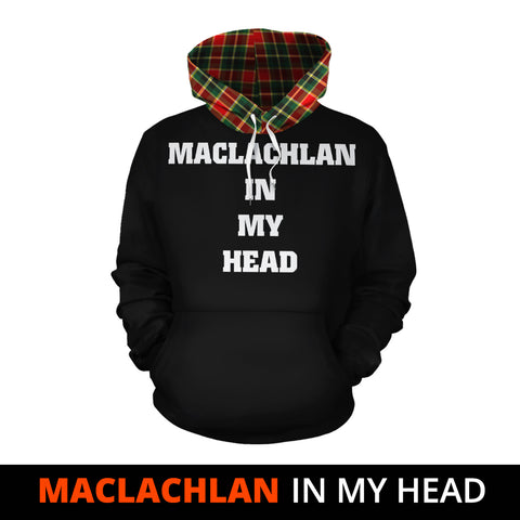 Image of MacLachlan Hunting Modern In My Head Hoodie Tartan Scotland K9