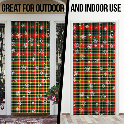 Image of MacLachlan Hunting Modern Christmas Tartan Door Sock Cover