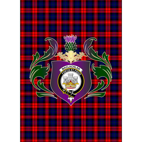 MacLachlan Modern Clan Garden Flag Royal Thistle Of Clan Badge