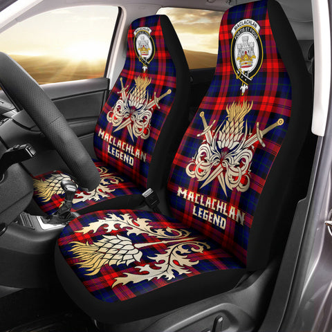 Car Seat Cover MacLachlan Modern Clan Crest Gold Thistle Courage Symbol