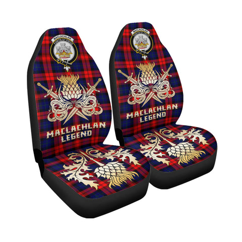 Car Seat Cover MacLachlan Modern Clan Crest Gold Thistle Courage Symbol K9