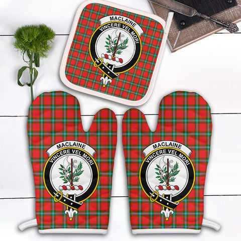 MacLaine of Loch Buie Clan Crest Tartan Scotland Oven Mitt And Pot-Holder (Set Of Two)
