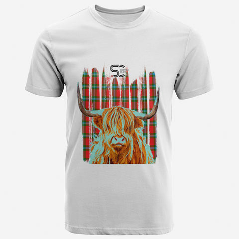 Image of MacLaine of Loch Buie Clan Unisex T-Shirt Custom Highland Cow