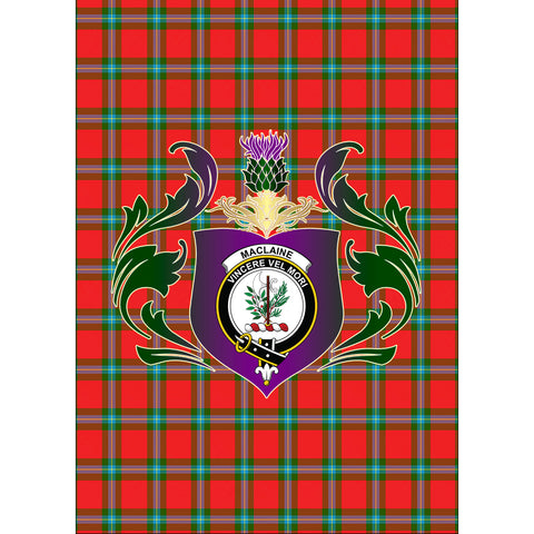 MacLaine of Loch Buie Clan Garden Flag Royal Thistle Of Clan Badge