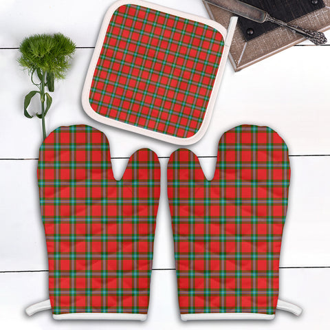MacLaine of Loch Buie Clan Tartan Scotland Oven Mitt And Pot-Holder (Set Of Two)