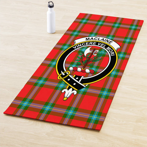 Image of MacLaine of Loch Buie Clan Crest Tartan Yoga mats