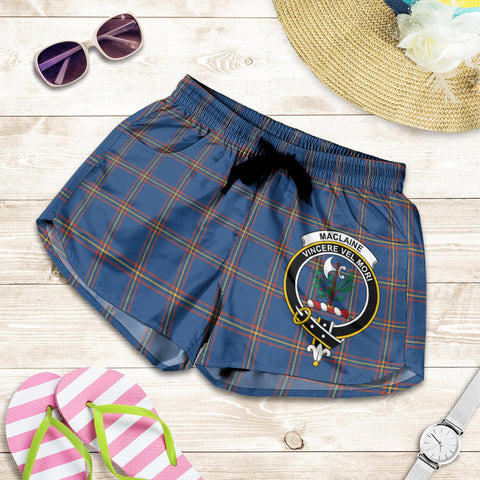 MacLaine of Loch Buie Hunting Ancient crest Tartan Shorts For Women