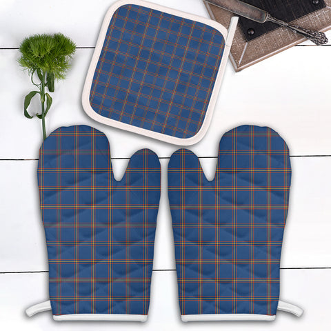 MacLaine of Loch Buie Hunting Ancient Clan Tartan Scotland Oven Mitt And Pot-Holder (Set Of Two)