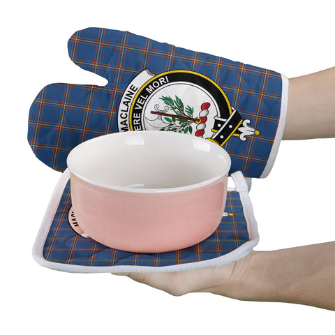 MacLaine of Loch Buie Hunting Ancient Clan Crest Tartan Scotland Oven Mitt And Pot-Holder (Set Of Two)
