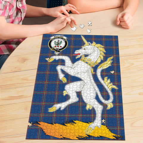 MacLaine of Loch Buie Hunting Ancient Clan Crest Tartan Unicorn Scotland Jigsaw Puzzle