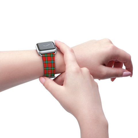 Image of MacLaine of Loch Buie Scottish Clan Tartan Watch Band Apple Watch