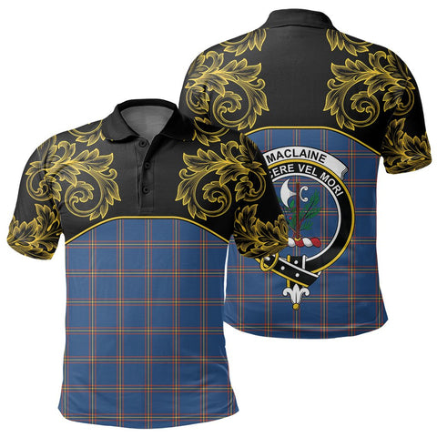 MacLaine of Loch Buie Hunting Ancient Tartan Clan Crest Polo Shirt - Empire I - HJT4