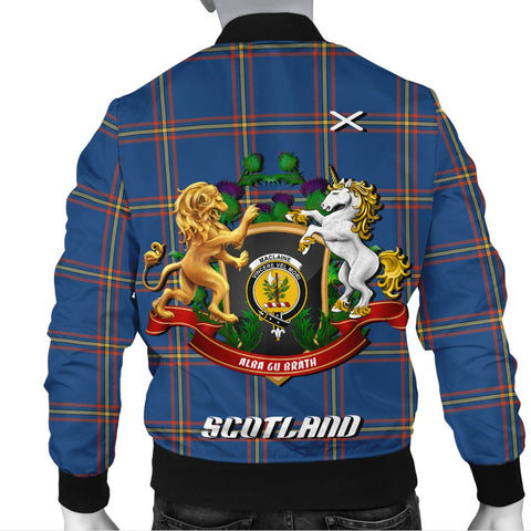 MacLaine of Loch Buie Hunting Ancient | Tartan Bomber Jacket | Scottish Jacket | Scotland Clothing