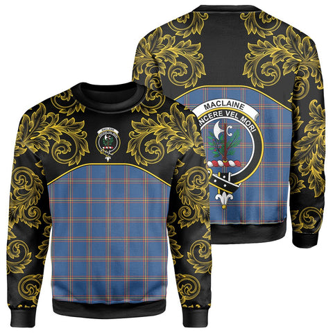 MacLaine of Loch Buie Hunting Ancient Tartan Clan Crest Sweatshirt - Empire I - HJT4