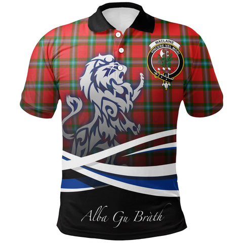 Image of MacLaine of Loch Buie Polo Shirts Tartan Crest Scotland Lion A30