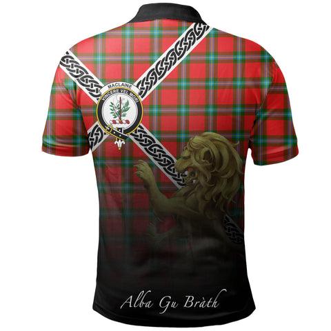 Image of MacLaine of Loch Buie Polo Shirts Tartan Crest Celtic Scotland Lion A30