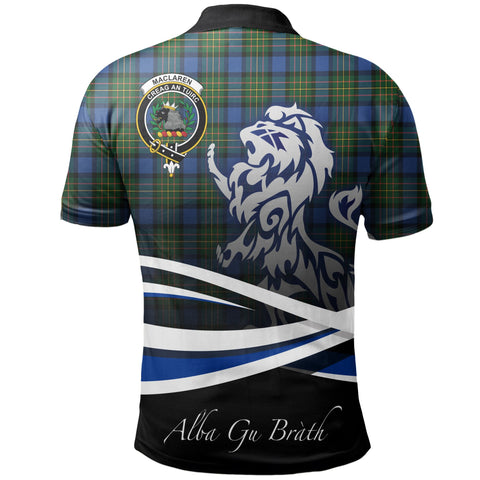 MacLaren Ancient Polo Shirts Tartan Crest Scotland Lion A30
