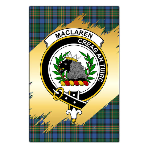 Garden Flag MacLaren Ancient Clan Gold Crest Gold Thistle