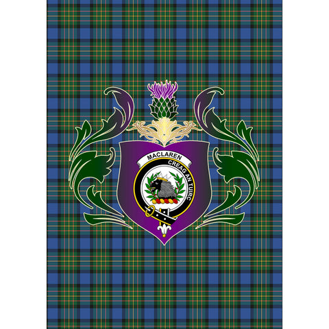 MacLaren Ancient Clan Garden Flag Royal Thistle Of Clan Badge