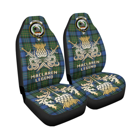 Car Seat Cover MacLaren Ancient Clan Crest Gold Thistle Courage Symbol K9