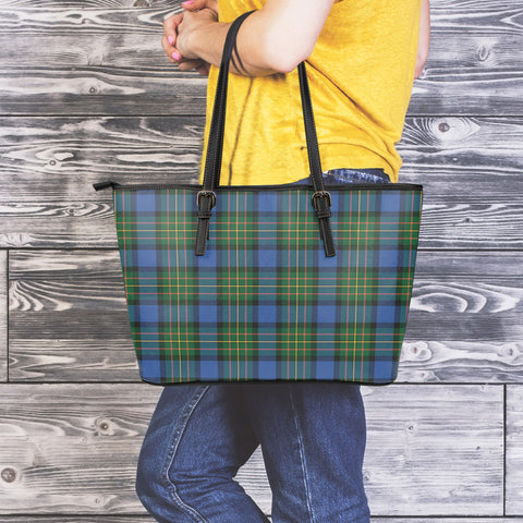 MacLaren Ancient Tartan Leather Tote Bag (Large) | Over 500 Tartans | Special Custom Design