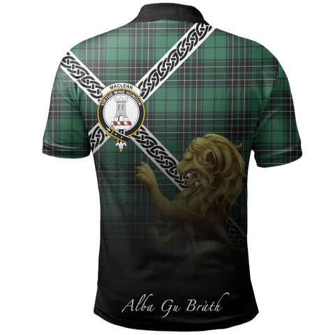 Image of MacLean Hunting Polo Shirts Tartan Crest Celtic Scotland Lion A30