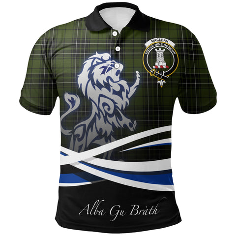 MacLean Hunting Polo Shirts Tartan Crest Scotland Lion A30