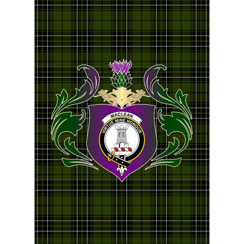 MacLean Hunting Clan Garden Flag Royal Thistle Of Clan Badge