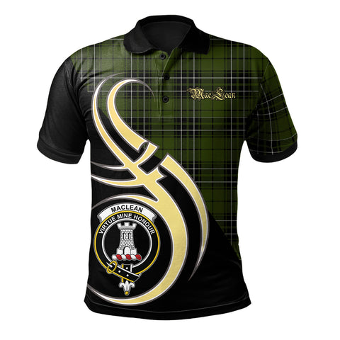 MacLean Hunting Clan Believe In Me Polo Shirt