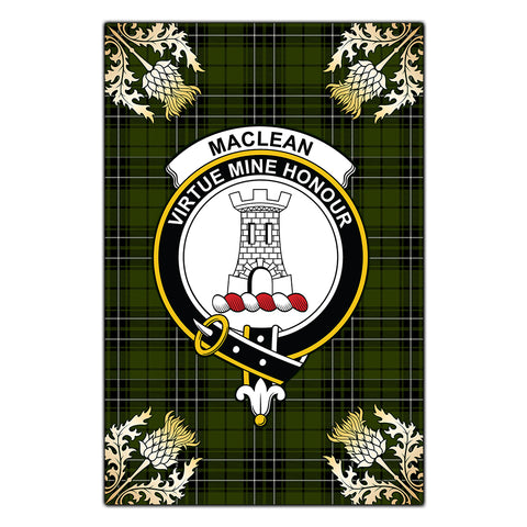 Garden Flag MacLean Hunting Clan Crest Gold Thistle New